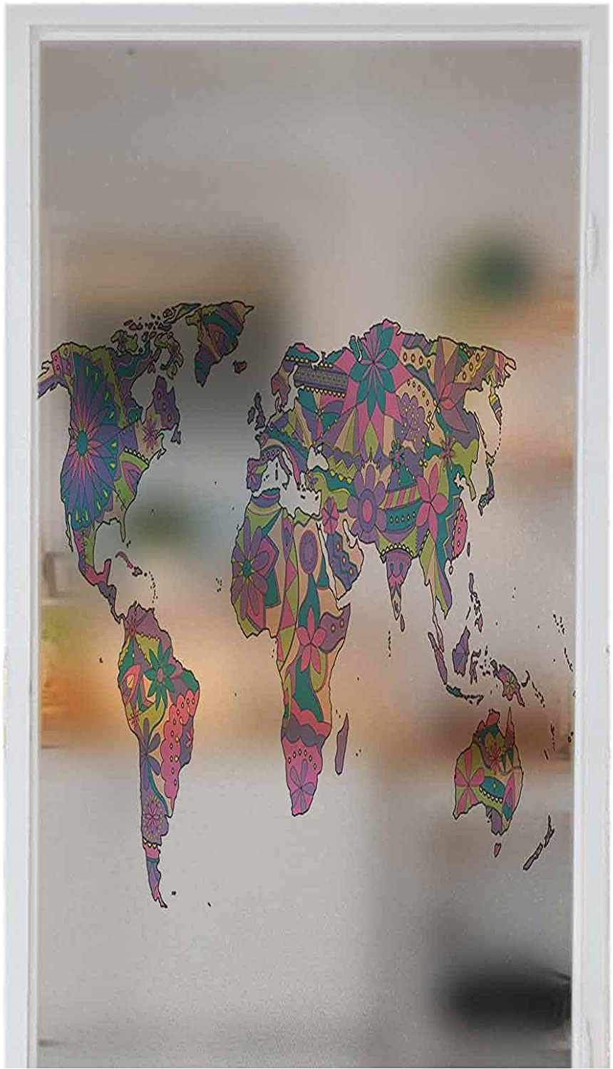 DIY Home High order Decoration Glass Stickers Colorf Window Albuquerque Mall Wanderlust Film