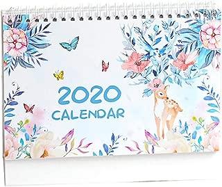 Sundlight Desk Calendar Stand Up Now to Dec 2020, Schedule Memo DIY CalendarTent Calendar, Flip Calender, Easel Calandar, Table Top Calendar fit Home