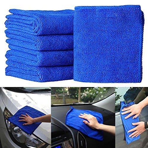 Autoreinigungstücher Microfaser Set Mingfa Weiche, saugfähige Autopflege Reinigungstücher Waschlappen für Autos, Aufbereitung, Trocknen und Reinigung