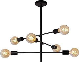 Lucide LESTER - Lámpara de techo (6 bombillas E27), color negro