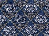 Dekostoff Vorhangstoff Jacquard Ornamente Barock Muster