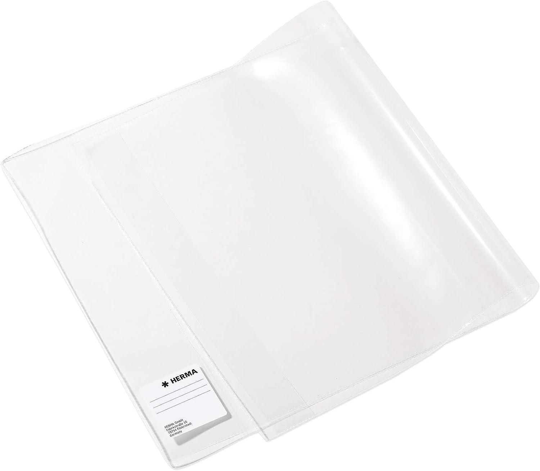 Plastica HERMA copertina per libro//buchschoner Basic 1/pezzi 200 x 380 mm Trasparente