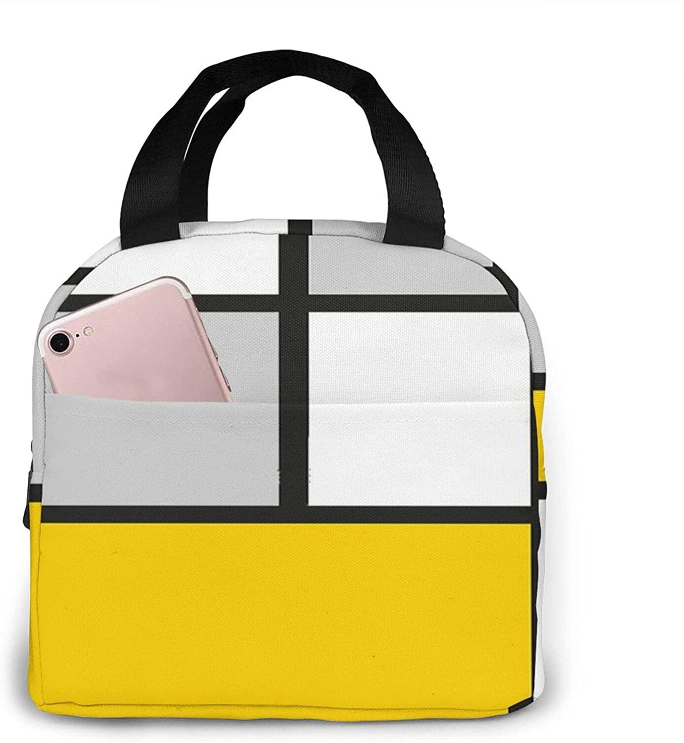 Fashionable Abstract#8 Lunch Box For Women Cheap mail order shopping Insulated Reusable Portable Large