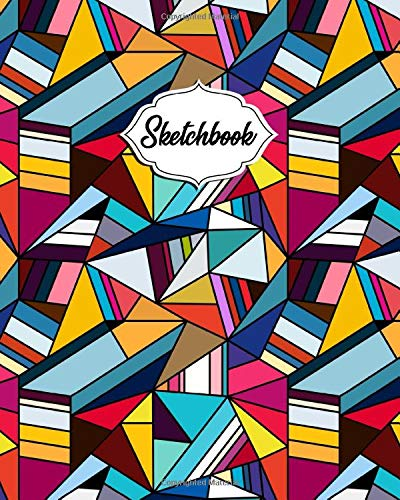 Sketchbook: Workbook & Notebook for Class, Work or Home Use | Journal Book for Drawing, Sketching, Painting or Writing | Awesome Abstract 3D Geometric Pattern