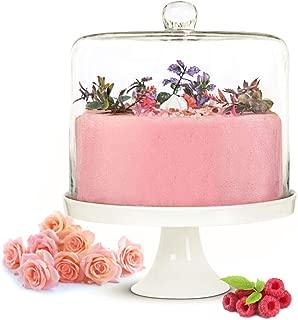 Sendez XXL - Campana de cristal para tarta (porcelana