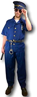 Rubber Johnnies Police Costume, Policeman, Adult, One Size Navy Blue