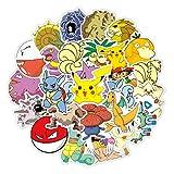 XXCKA 50 Unique Pokémon Pokemon Cartoon Étanche Et Écran Solaire pour Ordinateur Portable Trolley Case Moto Autocollants