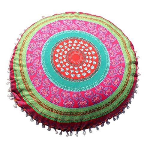 HUHU833 Indische Mandala Kissen, Runde Bohemian Home Kissen Kissenbezug Home Decor 43 * 43cm (E)