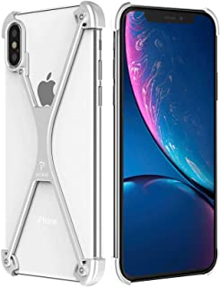 OATSBASF Bumper Case for iPhone X/iPhone Xs, Slim iPhone X/iPhone Xs X-Frame Metal Case, Shock Absorption Edge Protectors Support Wireless Charging