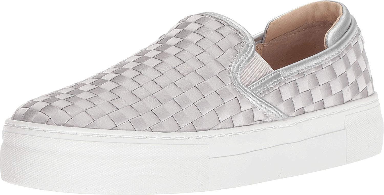 Steve Madden Womens Monte Satin Slip On Fashion Sneakers