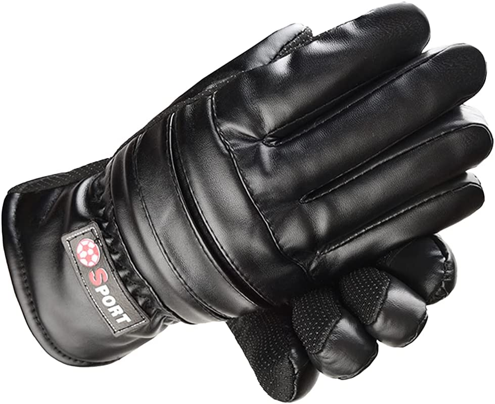 New Free Shipping Fashionable ATHX Men's PU Leather Cycling Touch Warm Screen Non-Slip Gloves