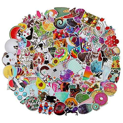 100Pcs Glittering Transparent Gold Rim Stickers for Laptop, Cute,Waterproof,Aesthetic,Trendy Hot Stamping Stickers for Teens,Girls Perfect for Waterbottle,Phone,Travel Extra Durable