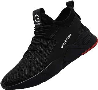 comprar comparacion Zapatillas de Seguridad Hombre,Trabajo con Puntera de Acero Transpirable Reflectante Botas de Seguridad