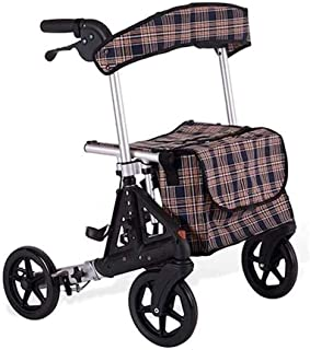 Rollator Walker Folding Rolling Walker With Seat And Wheels Foldable And Adjustable Handles And Back Support Brakes For St...
