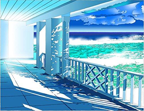 鈴木英人 版画 「あの白い夏」