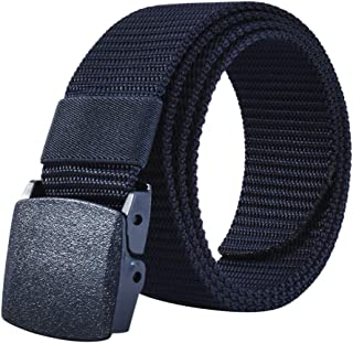 JY_shop Mens Belt Nylon Webbing Canvas Outdoor Web Belt with Automatic Click Buckle Can Pruning Enclosed in an Elegant Gif...