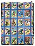 Marvel X-Men Characters Comic Cards Fleece Soft Throw Blanket