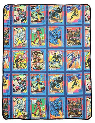 Marvel X-Men Characters Comic Cards Fleece Soft Throw...