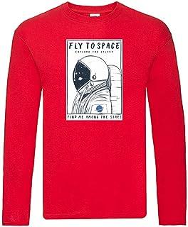 Camiseta de manga larga – Fly to Space Astronaut – Camiseta de manga larga unisex para niños y niñas