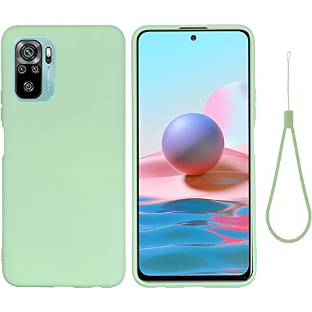 DAMONDY for Xiaomi Redmi Note 10 Case, Liquid Silicone Gel Rubber Shockproof Slim Phone Case Bumper Cover Full Body Protection Designed for Women Men -Green
