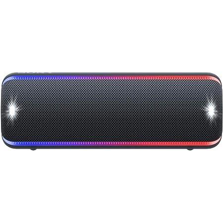 ソニー ワイヤレスポータブルスピーカー SRS-XB32 : 防水 / 防塵 / 防錆 / Bluetooth / 重低音モデル / マイク付き/ 最大24時間連続再生 2019年モデル / マイク付き/ ブラック SRS-XB32 B