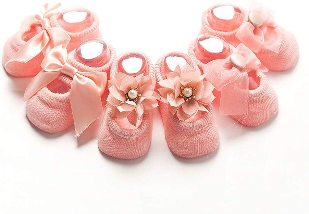 Cute Baby Toddler Non Slip/Anti Skid Shoes, Breathable Unisex Infant Floor Walking Socks for Girls and Boys