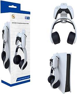 Cruet Controlador de jogos montado na parede, suporte de fone de ouvido para console Sony PlayStation 5/PS5/PS4, organizad...