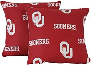 College Covers Oklahoma Sooners Decorative Pillow, 16 x 16, Includes 2 Decorative Pillows