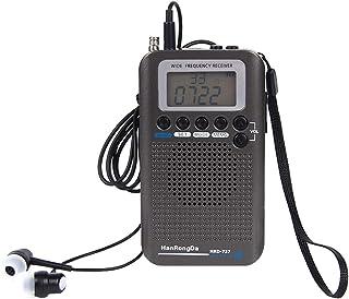 D DOLITY Portable VHF Airband Radio, Aircraft Band Radio Receiver VHF Transceiver Radio Recorder - Black