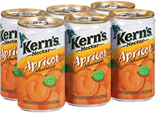 Kerns Nectar Apricot 6 pk of 5.5 Ounce (Pack of 2 - Total of 12 cans)