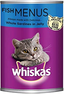 Whiskas Whole Sardines in Jelly, Can, 400g - Pack of 24