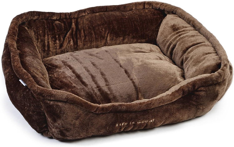 Beeztees Good Life Plush Rest Bed, 27 cm, Brown
