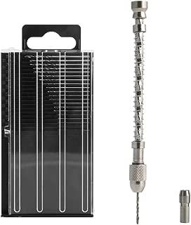 Mimgo Store Semi-automatic Mini Micro Spiral Hand Manual Drill Chuck Twist Bit Pin Vise Jewelry Tool Kit