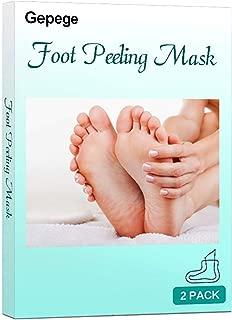 Gepege Feet Exfoliant Foot Peel 2 Pack, Make Your Feet Like Baby, Peeling Away Calluses and Dead Skin cells, Exfoliating Foot Mask, Repair Rough Heels, Get Silky Soft Feet