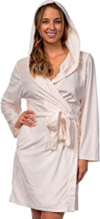 Pink Lady Womens Soft Velour Hooded Robe