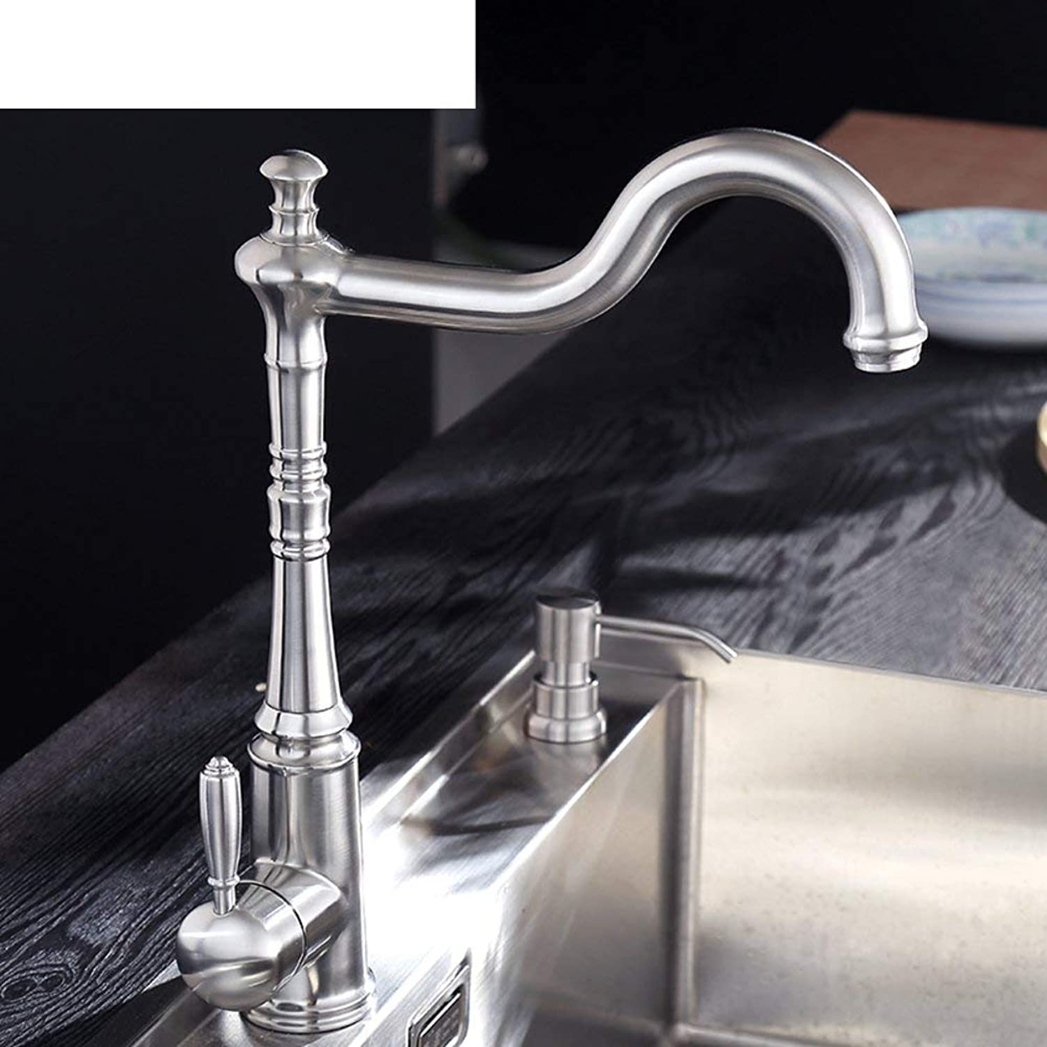 Oudan European kitchen faucet Antique304Stainless steel faucet Retro kitchen sink faucet hot and cold basin (color   -, Size   -)