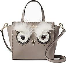 Kate Spade Star Bright Owl Mini Hadlee Crossbody Handbag, Taupe, Small