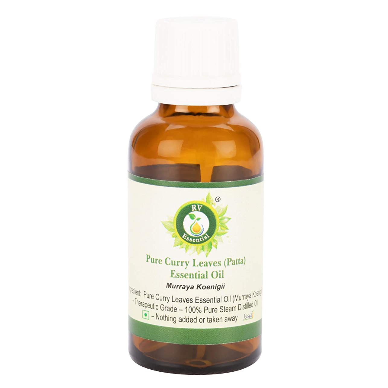 パット剛性生き物純粋なカレーの葉(Patta)エッセンシャルオイル50ml (1.69oz)- Murraya Koenigii (100%純粋&天然スチームDistilled) ?Pure Curry Leaves (Patta) Essential Oil