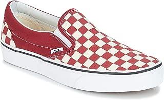 Vans Classic Slip-On (Checkerboard) Rumba Red/True White 9 Men/10.5 Women