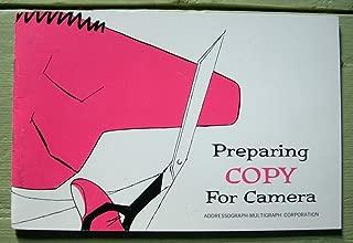 Preparing Copy for Camera