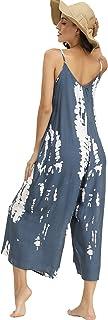 Women's V Neck Floral Maxi Dress Boho Printed Adjustable...
