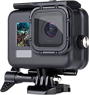 50M/164FT Waterproof Housing Case for GoPro Hero 9 Black,with Optical Tempered Glass Screen Protector, Touch Screen Back D...