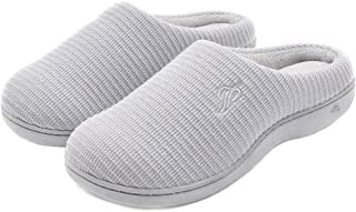 Wishcotton Womens Cozy Breathable Memory Foam Slippers Nonslip Rubber Sole House Shoes