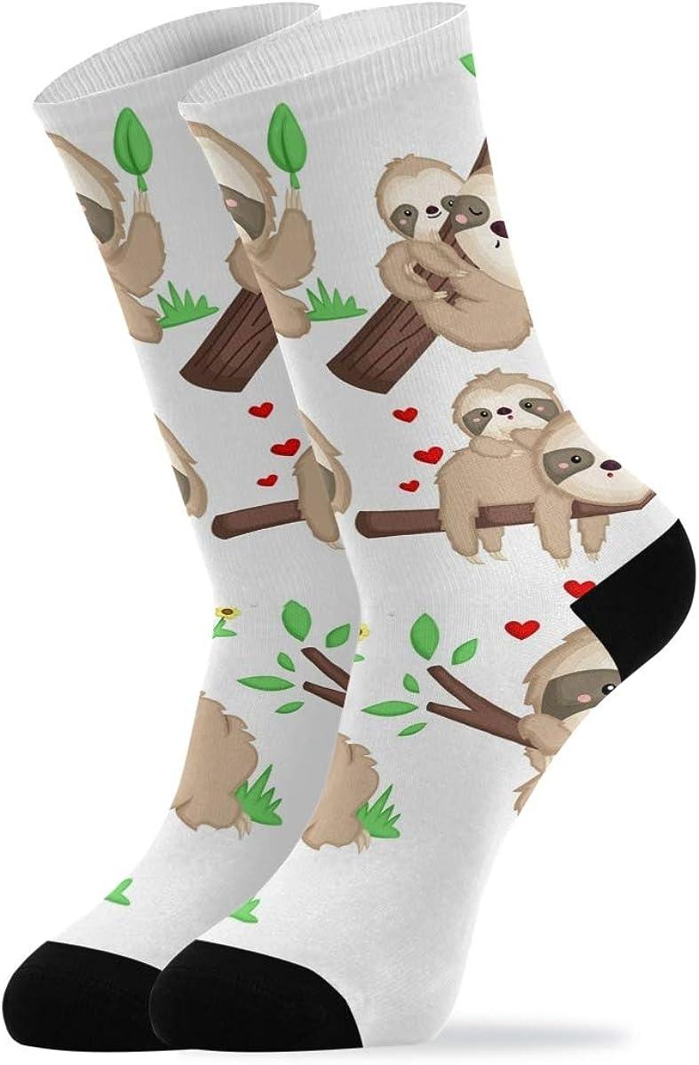 Casual Socks for Woman Men - Cute Sloth Baby Ankle Socks Novelty Cotton Socks 1 Pair