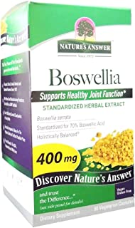 Nature's Answer Boswellia Resin Extract Standardized 400 mg vegetarian capsules 90s