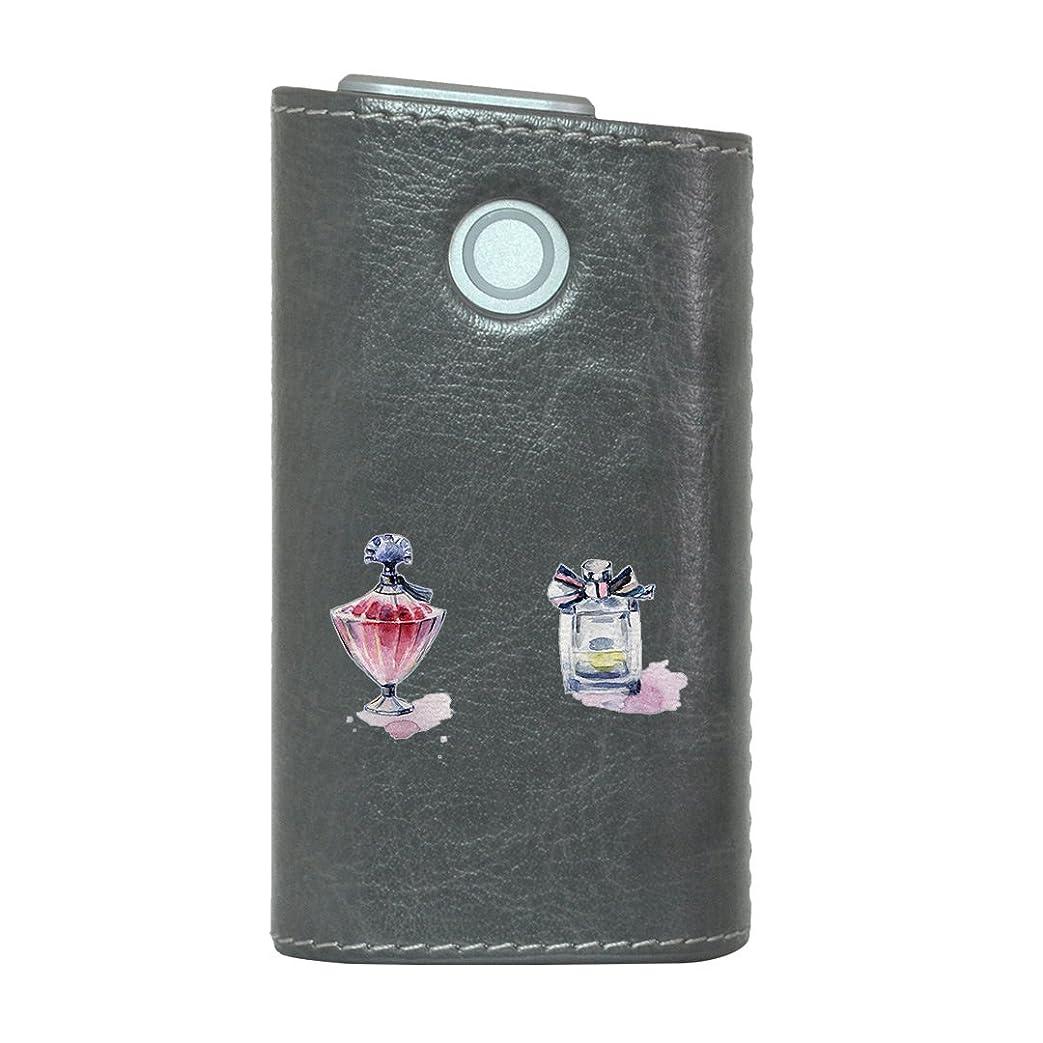 別のロッカークールglo グロー グロウ 専用 レザーケース レザーカバー タバコ ケース カバー 合皮 ハードケース カバー 収納 デザイン 革 皮 GRAY グレー 香水 おしゃれ リボン 012538