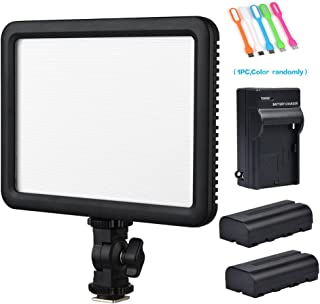 Godox LEDP120C CRI95 TLCI95 Ultra-Thin Dimmable Lightweight 3300K-5600K LED Video Light PanelOn Camera Continuous Lighting Compatible for DSLR Cameras,Camcorders with 2xNP-F550 Battery&Charger