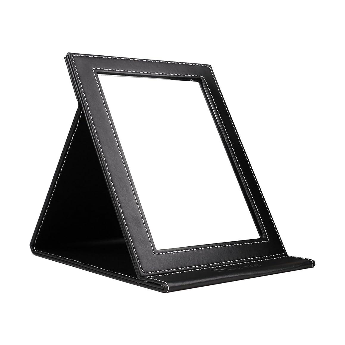 必要としている近代化補正DUcare ドゥケア 化粧鏡 スタンドミラー 折りたたみ式 角度調整自由自在 上質PUレザー使用