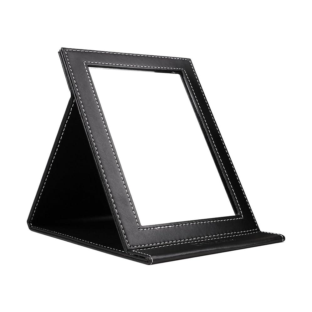 手数料虎発送DUcare ドゥケア 化粧鏡 スタンドミラー 折りたたみ式 角度調整自由自在 上質PUレザー使用