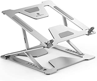 Adjustable Laptop Stand for Desk, Portable Foldable Laptop Riser with Heat-Vent to Elevate Laptop, 13 Lbs Heavy Duty Lapto...